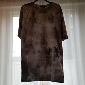 Acid Wash T-shirt Dress
